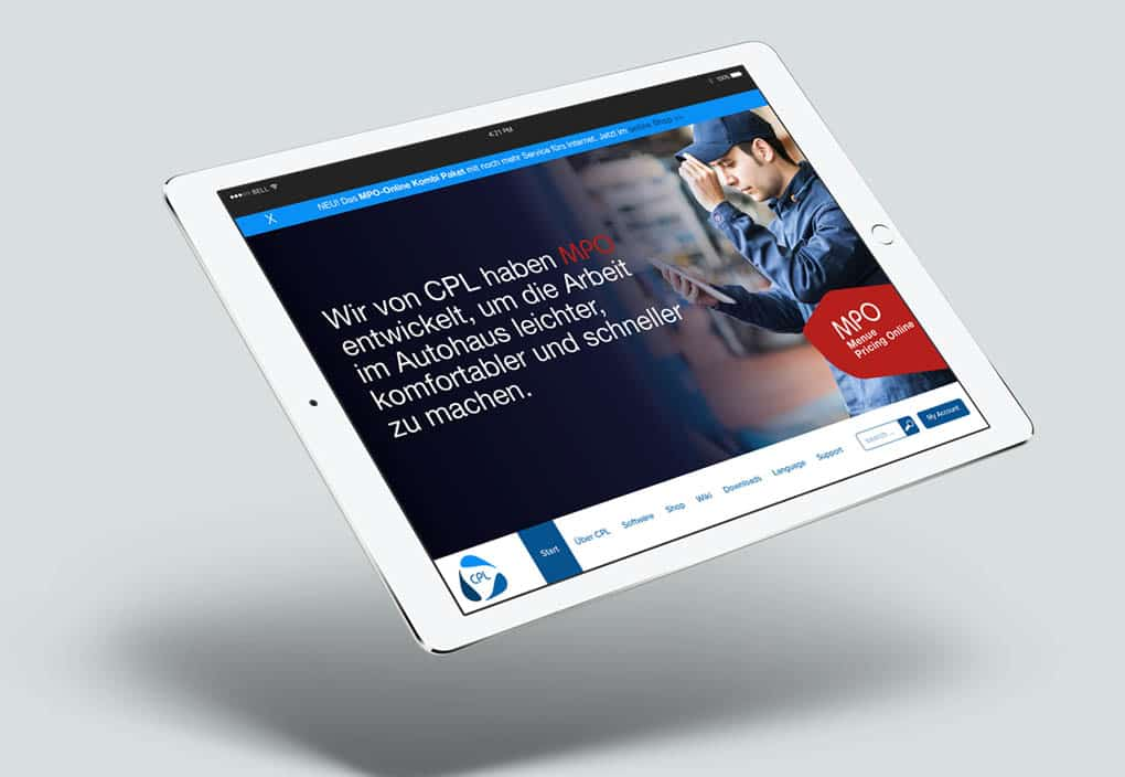 CPL Würzburg Corporate Design Markenentwicklung Arbeitgebermarke Agentur iPad