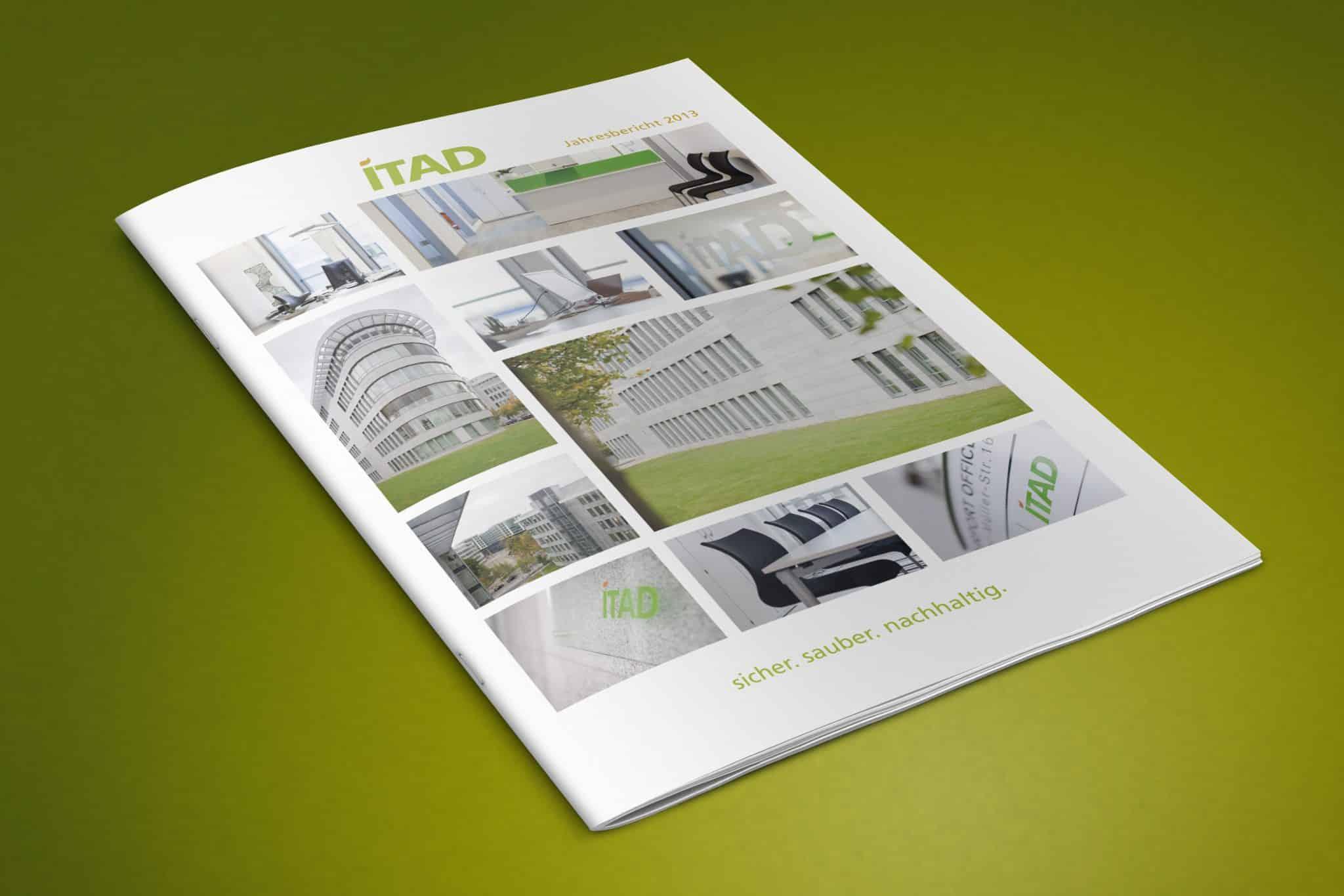 Gestaltung von Geschäftsberichten für die ITAD e.V. Seite Titel Ansicht