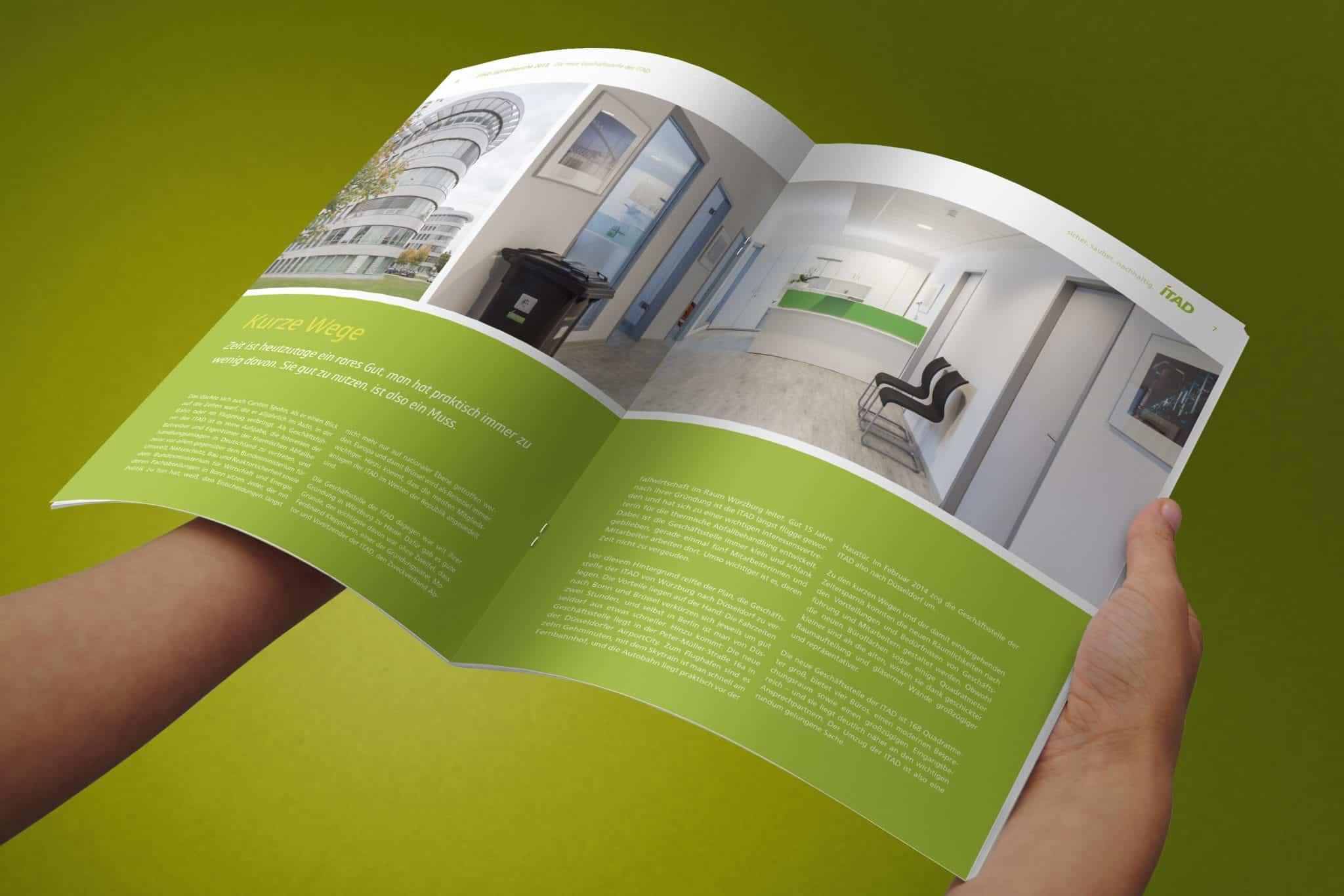 Design und Gestaltung Geschäftsbericht ITAD e.V. Doppelseite 4