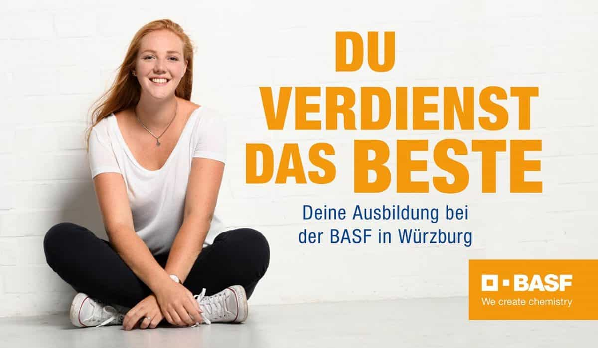 Ausbildungskampagne BASF Würzburg du verdienst das Beste