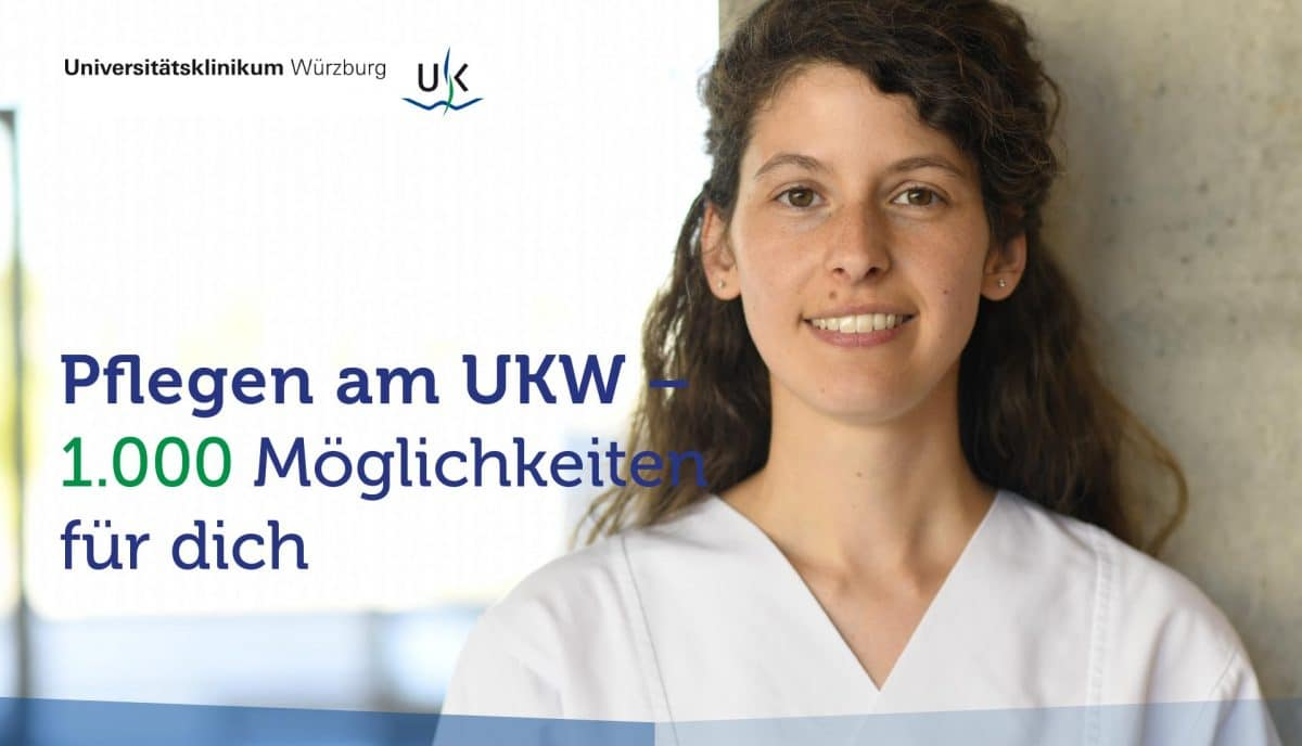 Uniklinik Würzburg Karriereseite Titel mit Claim