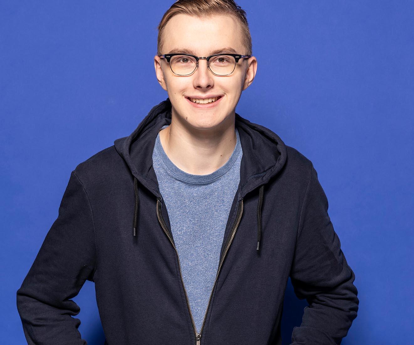 Porträt Florian Entwicklung Azubi-Kampagne für Westfalen Group, Webdesign, Videoclips, Social-Media, Werbung