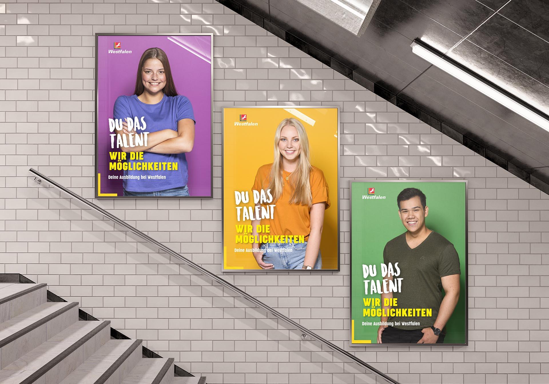 Entwicklung Azubi-Kampagne für Westfalen Group, Webdesign, Videoclips, Social-Media, Werbung