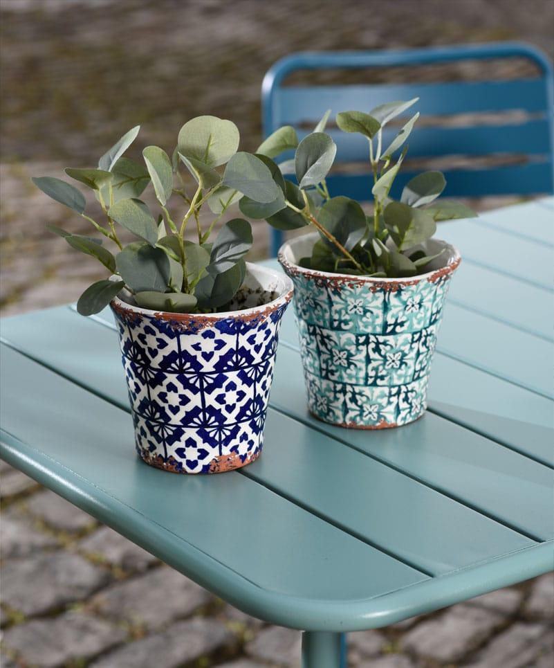 Impression Tisch mit Vasen Quadrato Outdoor-Möbel Fotoshooting Design